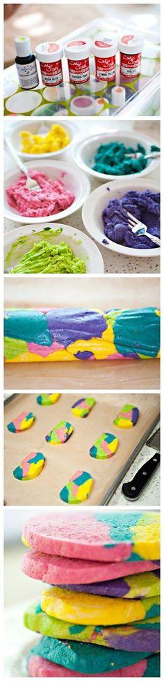 Tie Dye Cookies - Askmefood
