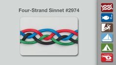 The Four Strand Braid # 2974 makes a pleasing, but more complicated, braid using just four strands.