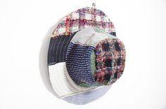民族拼接手織棉麻帽 / 針織帽 / 漁夫帽 - 紗麗布+棉麻針織 ( 限量一件 )