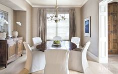 Modern Impartial Eating Room with Glass Mild Fixture