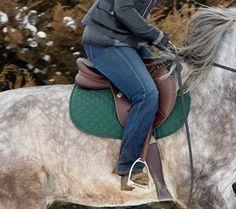 Dapple Grey Horse Brown English Close Contact All Purpose Saddle Cross Country Show Jumping Hunter