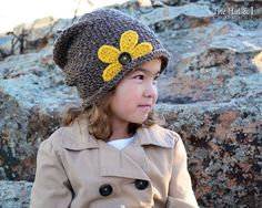 ($) Crocheting : Pretty Petals Slouchy (Toddler - Adult) pattern for purchase