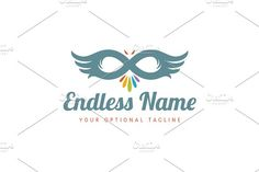 For sale. Only $29 - animal, eye, mask, eagle, flying, bird, owl, feather, wings, falcon, hawk, loop, infinity, event, Phoenix, hidden, carnival, prey, disguise, masquerade, theater, art, creative, travel, airlines, endless, lemniscate, logo, design, template,