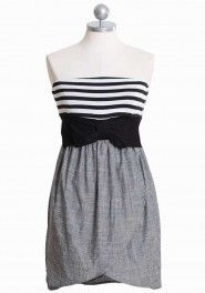 my darling beau striped chambray dress