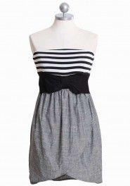 my darling beau striped chambray dress