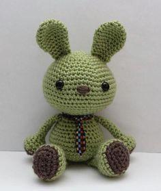 Amigurumi Crochet Pattern - Wasabi the Bunny pattern on Craftsy.com