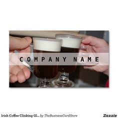 Irish Coffee Clinking Glasses Celebration Double-Sided Standard Business Cards (Pack Of Irish Coffee, Glass Of Milk, Business Cards, The 100, Celebration, Food And Drink, Packing, Restaurant, Glasses