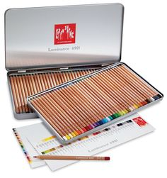 Caran d'Ache Luminance (colored pencils), Set of 76, recommended by Koosje Koene from Sketchbook Skool- said to be one of the two best colored pencils on the market, the other is Faber-Castell Polychromos Pencils