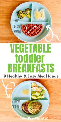 Healthy Breakfast Foods For Toddlers Healthy toddler breakfast meal ideas and foods that are quick and easy! All of these toddler meals and healthy recipes contain vegetables and are good for busy mornings with kids and toddlers and picky eaters! Healthy Toddler Breakfast, Healthy Toddler Meals, Healthy Meal Prep, Healthy Breakfast Recipes, Easy Healthy Recipes, Baby Food Recipes, Kids Meals, Healthy Snacks, Breakfast Meals