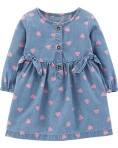 Baby Girl New Arrivals Baby Dress, The Dress, Baby Girl Dresses, Baby Outfits, Carters Baby Girl, Baby Girls, Chambray Dress, Review Dresses, Kids Fashion