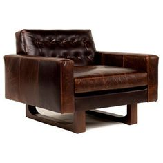 Check out this item at One Kings Lane! Mary Tufted Leather Chair, Cocoa