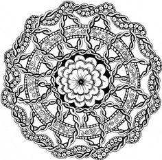 Mandala 0105 Coloring For Adults