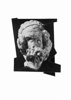 Samuel Solazzo: Der Philosoph. #Collage #Philosoph #Sokrates #Denken #Antike #samuelsolazzo #startyourart www.startyourart.de