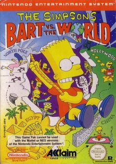 bart vs meets  the world | The Simpsons: Bart vs. the World - NES - PAL (Europe)