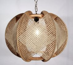 Handcrafted Wood Light Fixture by LuxAndWatts on Etsy