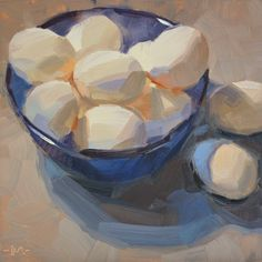 Carol Marine's Painting a Day: Blue Bowl of Happiness