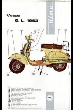 ulma accessories for vespa gl Vespa Vbb, Motos Vespa, Piaggio Vespa, Motorcycle Helmet Design, Scooter Motorcycle, Triumph Motorcycles, Vespa Vintage, Vintage Italy, Ducati