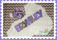 Personalized girl bodysuit newborn girl by FiestaKidsBoutique, $40.50