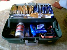 Oh, I need this! A runner's tackle box -- to keep all my stuff. I'd add gum, and lip gloss, and extra socks. @MaryJo Johnson