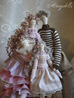 Annysdolls.com: Adorable tilda doll family.