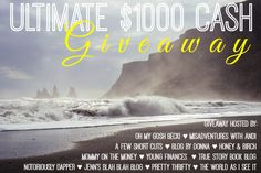 My blogger friends and I have teamed up to bring you one of our biggest giveaways ever! One lucky winner will win a $1000 cash prize (via Paypal) and it just might be you!  If you want a chance to be the lucky winner, here's what you need to do – bookmark this page …