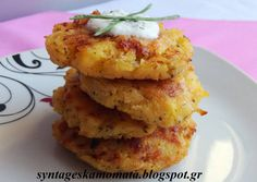 Πατατοκεφτέδες φούρνου Food N, Food And Drink, Cookbook Recipes, Cooking Recipes, Greek Sweets, Allrecipes, Salad Recipes, Mashed Potatoes, Cauliflower