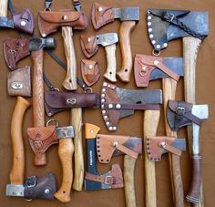 Leather axe sheath inspiration