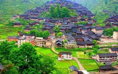 Views of old Chinese village