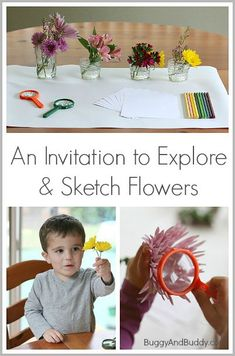 Great classroom center for spring! (Spring Activities for Kids: An Invitation to Explore Flowers~ Buggy and Buddy)