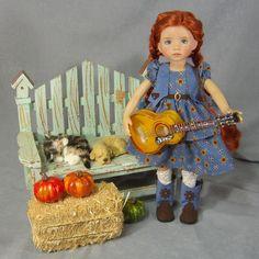 "~ THE TALENT SHOW ~ Western Dress & Guitar SET fits Effner 13"" Little Darlings"