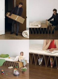 Portable Eco Friendly Cardboard Bed from It-Happens