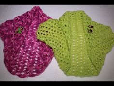 Como hacer una torera o bolero en 3 pasos en crochet - YouTube