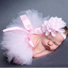 Fashion Infant Newborn Baby Girls Flower Headband Mesh Ball Gown Tutu Skirts Photography Accessory Prop For Christmas Gift - Alternative Measures