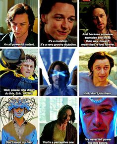 Some iconic lines and scenes from James McAvoy's Charles Xavier in the new trilogy