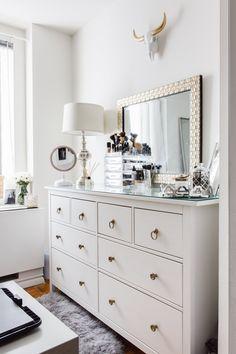 This Ikea dresser is Chelsey's main bedroom storage.
