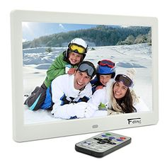 101 Inch HiRes TFT LED Digital Photo Frame  HD Video1080P720pMusic Playback with 8GB Memory Card White *** Click on the image for additional details.Note:It is affiliate link to Amazon. #follower