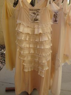 Altered SLipdress made for Paris Montana-love the ruffle bustle!