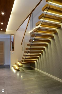 Schody styl Nowoczesny - zdjęcie od Artes Design - Schody Concrete Stairs, Wood Stairs, Staircase Handrail, Staircase Design, Interior Stairs, Interior Architecture, Modern Stairs, Floating Stairs, Painted Stairs