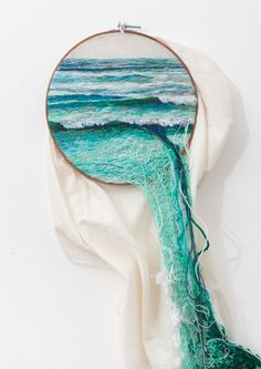 This artist creates landscape embroidery art that leaps out of its frames (embroidery by Ana Teresa Barboza) Textiles, Illustration Art, Illustrations, Art Plastique, Embroidery Art, Embroidery Bracelets, Embroidery Hoops, Creative Embroidery, Embroidery Designs