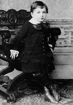 Einstein at the age of three years, 1882.