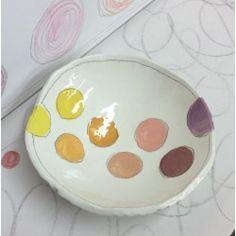 Coupelle ronde à pastilles couleur