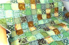 Child or Adult Rag Quilt of Amy Butler by WillSewForChocolate, $128.00