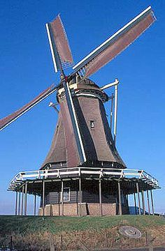Flour mill De Herder, Medemblik, the Netherlands.