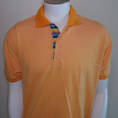 22170dffe Robert Graham Polo Shirt Large LG Knowledge Wisdom Truth Mens Orange  #RobertGraham #PoloRugby Robert