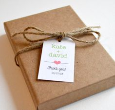 100 Matte Small Label Tags  Custom Wedding by BugandBearDesign, $20.00