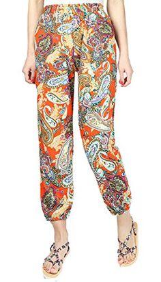 3d7c647768d8 LD-women clothes LD Womens Stylish Boho Printed Elastic Waist Beach Harem Jogger  Pants Trousers