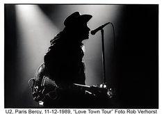 U2, Bono, Parijs 1989,   Foto Rob Verhorst