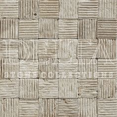 Light Travertine lined mosaic 4,8x4,8 cm (DLT 534)
