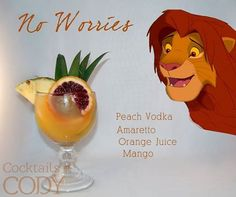 Remember a few weeks ago when we learned about Disney Princess cocktails by Cocktails By Cody? We laughed, we cried, we drank Disney Disney Cocktails, Cocktail Disney, Disney Themed Drinks, Disney Alcoholic Drinks, Disney Mixed Drinks, Cocktail Movie, Vodka Orange, Peach Vodka, Orange Juice