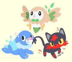 lazy pass - an art blog <<< the new Pokemon? Still don't know how to feel about these starters
